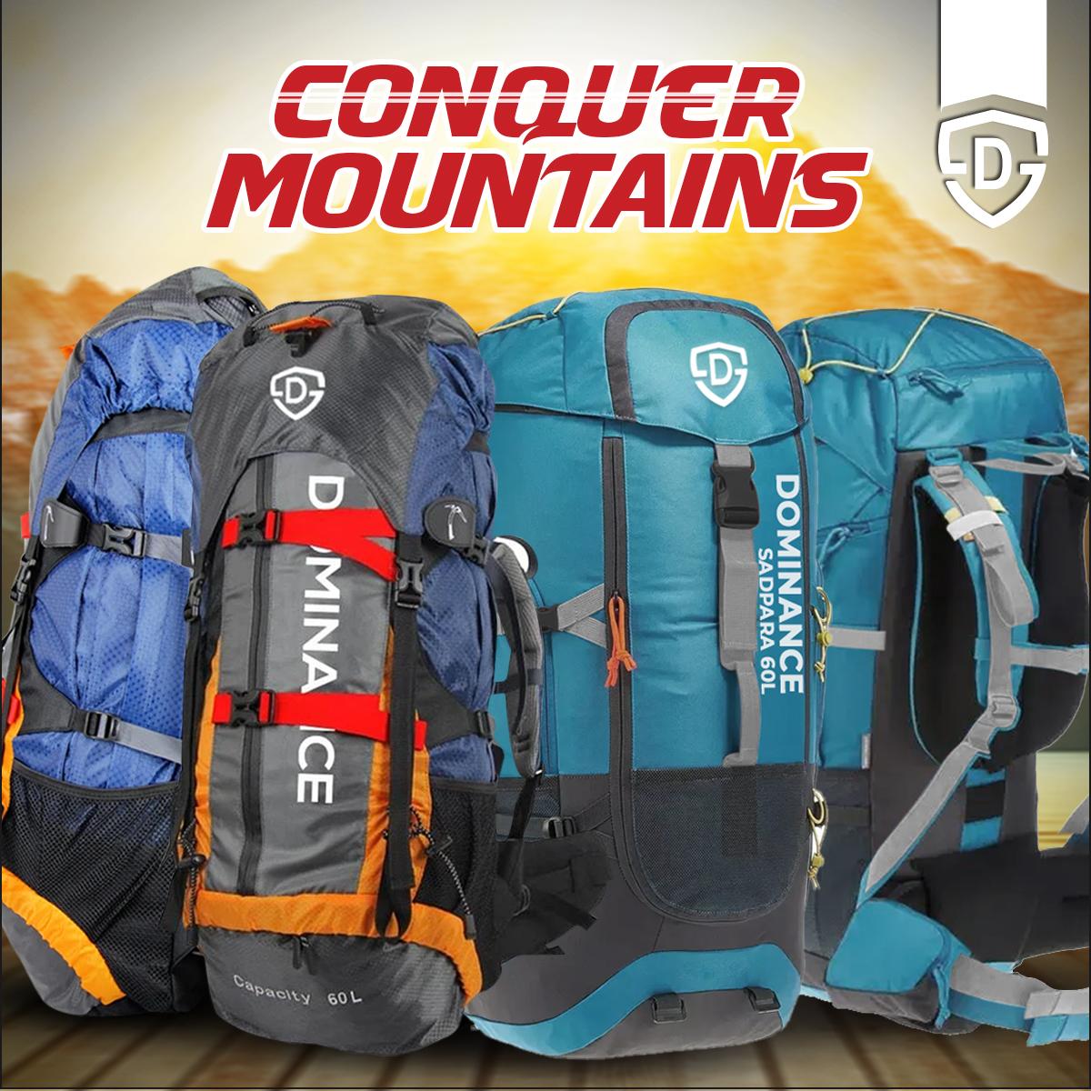 60-L Trekking Backpack Bag for men travelling Bag and hiking bag, Gym Bag  | Travel Bag | Weekend Luggage Tour Bag, Backpack For Men & Women