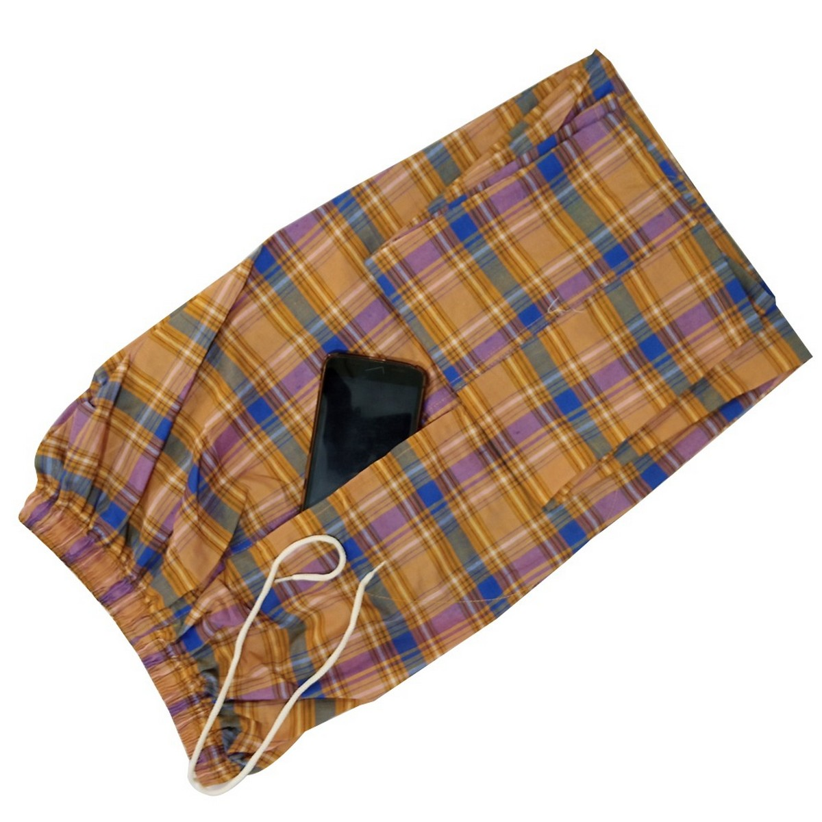 Check Trouser with Pocket Checks Design Trousers Pajama For Men's - 1 Pcs