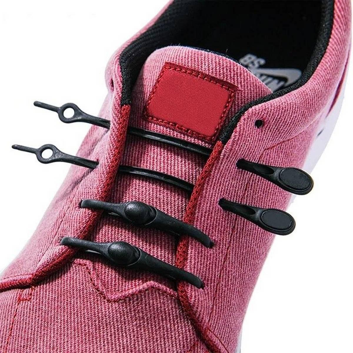 Silicone Shoelaces  Elastic Shoelaces Special  No Tie Shoelace for Men Women Lacing Rubber 12pcs
