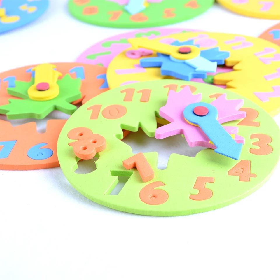 Kids Math Clock Learning Education Puzzle Mat Toys