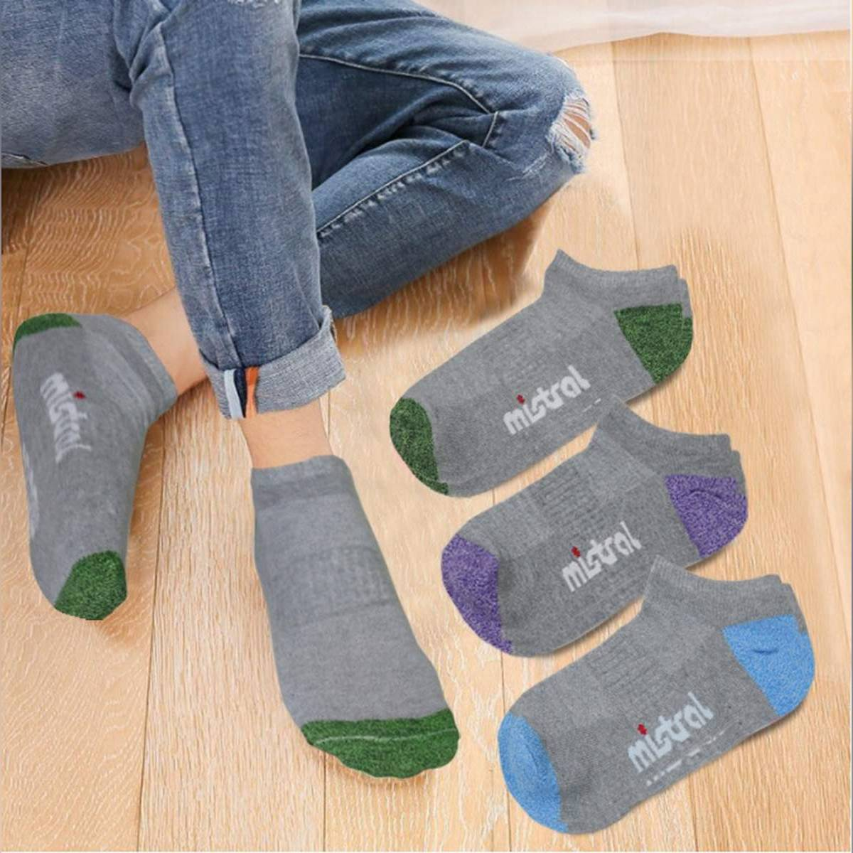 3 Pairs / Cotton Breathable Ankle Socks For Women