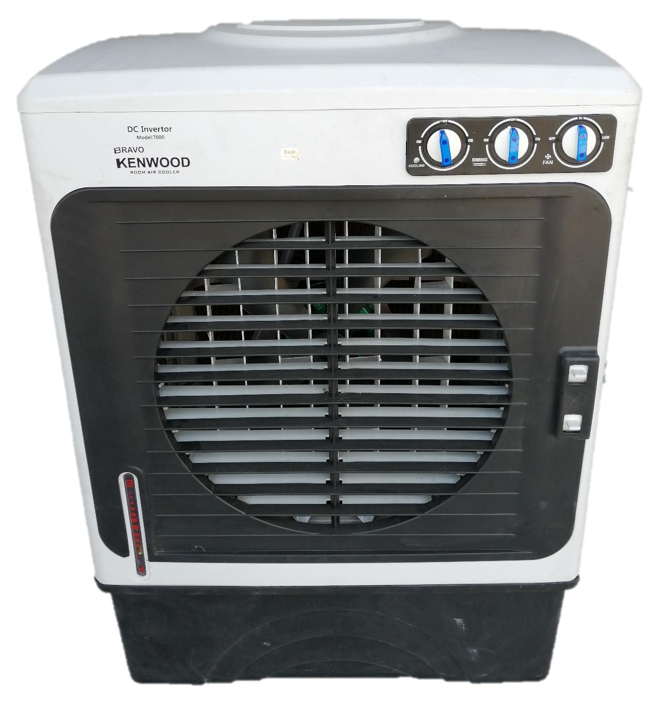 KENWOOD 7000 Air Room Cooler with 99 99% Pure Copper Wire Energy Efficient  Motor , Evaporative Pad , Smart Pump, 220V with 4 Wheels Free