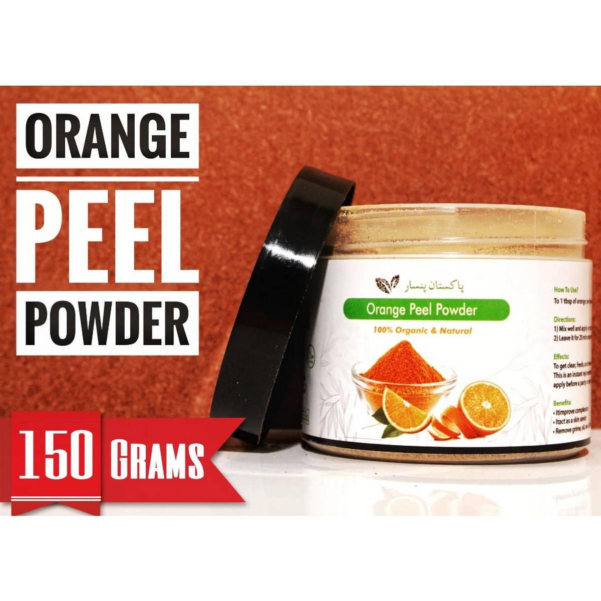 Orange Peel Powder - Pakistan Pansar 100% Pure Natural Organic (Orange Peel Powder for face and skin care )