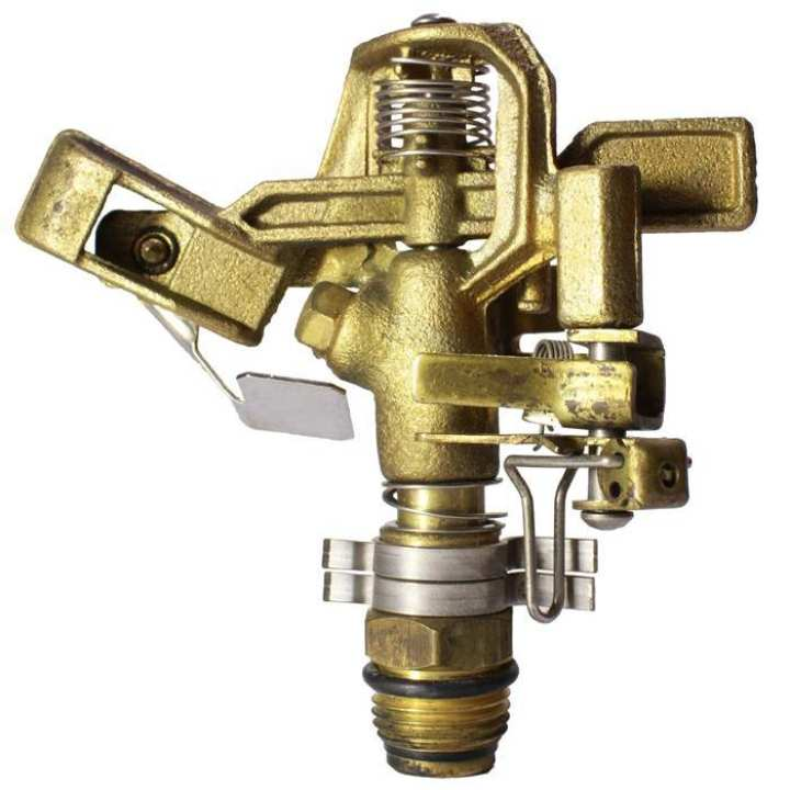 11552 Brass Adjustable Impact Sprinkler [0.5inch MT] Taiwan