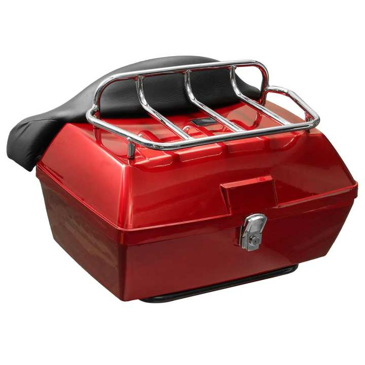 Motorcycle Universal Motorcycle Scooter Motorbike Rear Back Top Tail Box Case Luggage 48L #Black #Red #White