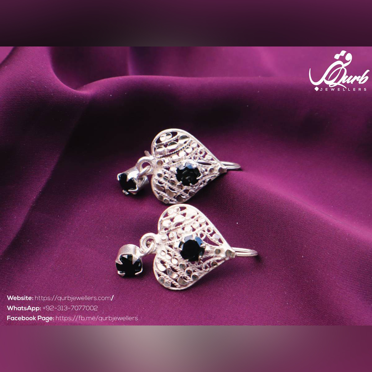 New Fashion Heart and Romantic Pure Silver (Chandi) Earrings Jewelry For Women and Girls