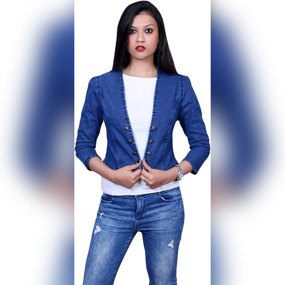 lets New Stylish Fashion Women Denim jecket