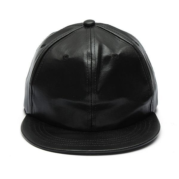 fec66ee44 Man Women Artificial Leather Baseball Caps Hiphop Hats Dancing Visors  Snapback Outdoor Sun Caps