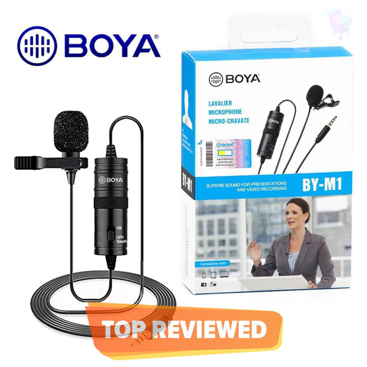 Latest Mic Boya M1 Original Lavalier Collar Microphone for ALL Devices Mobile Camera DSLR Laptop Computer