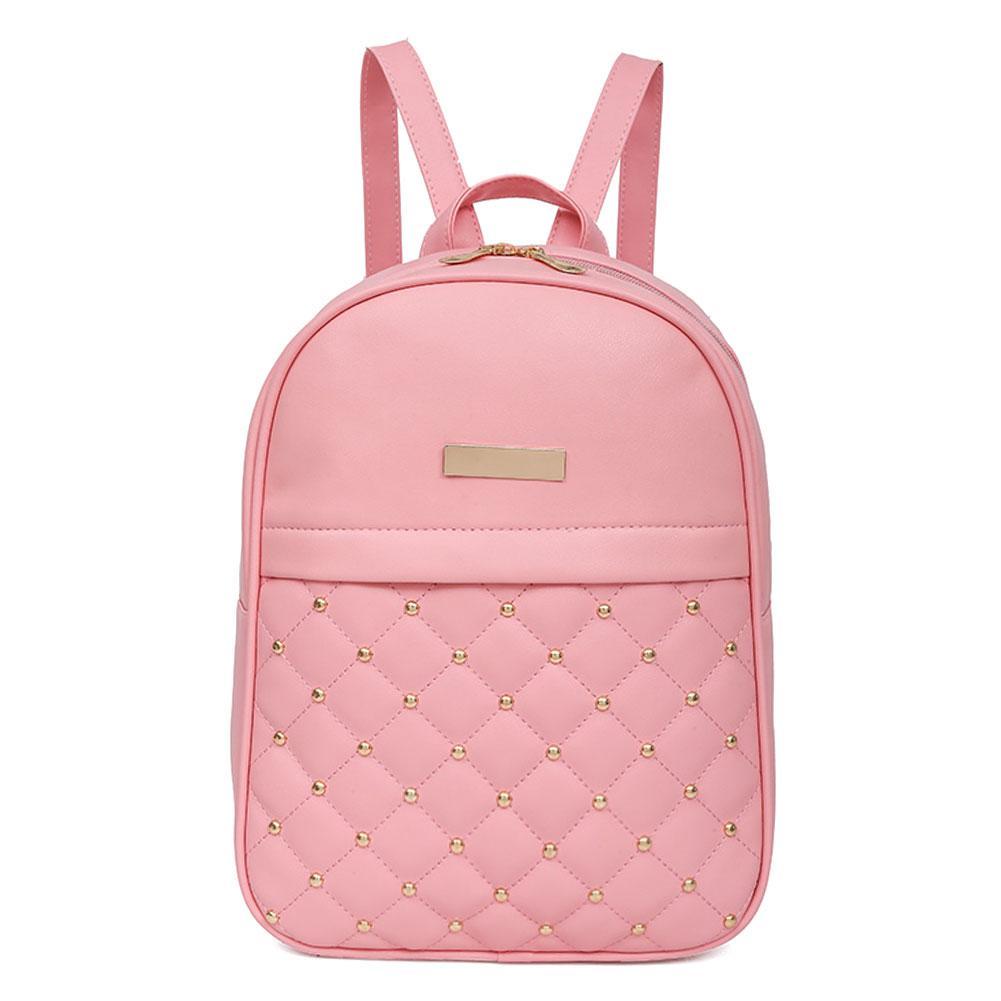3612e2af4b2c Fashion Women PU Leather Backpack Casual Bead Travel School Backpack