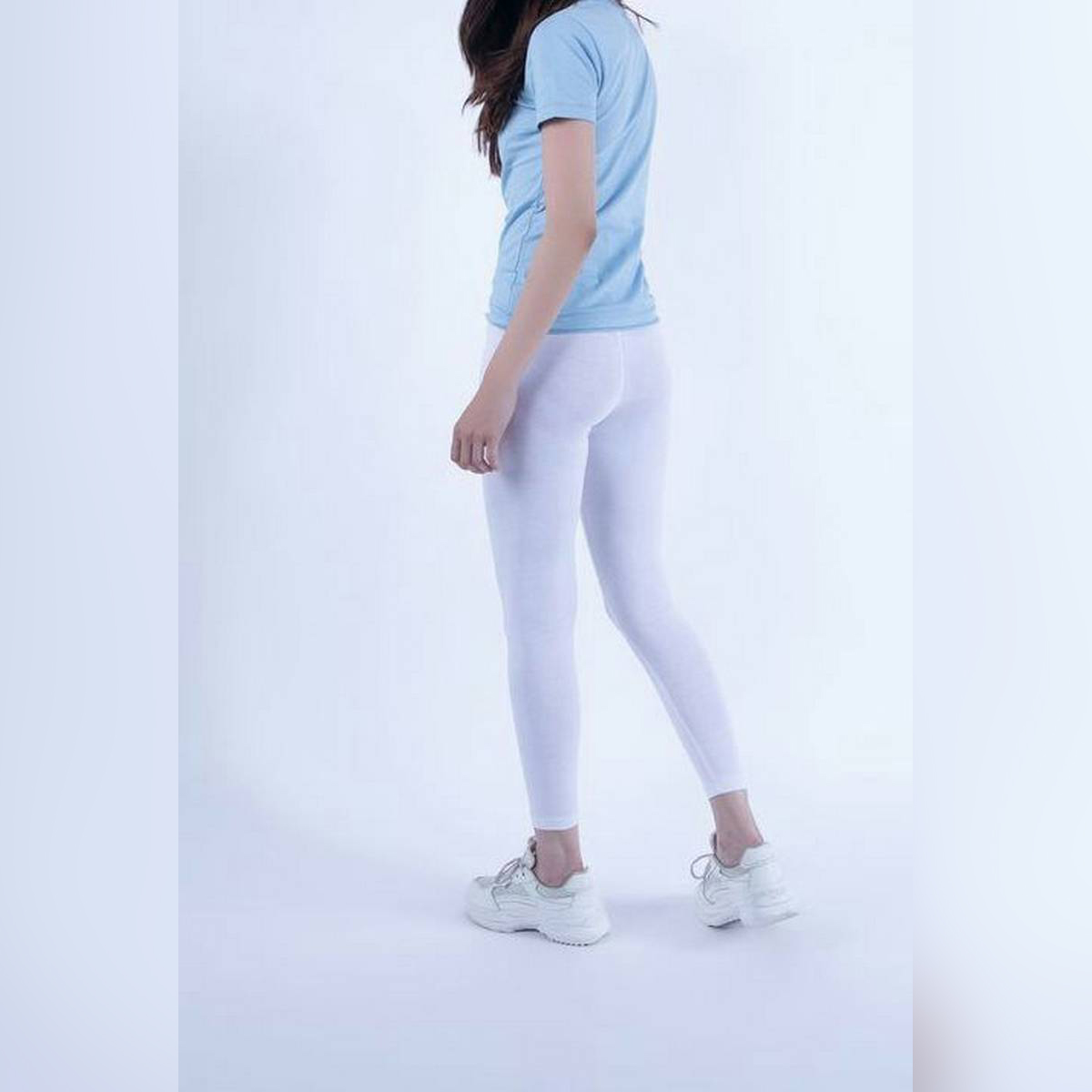 Ladies White Stretchy Tights
