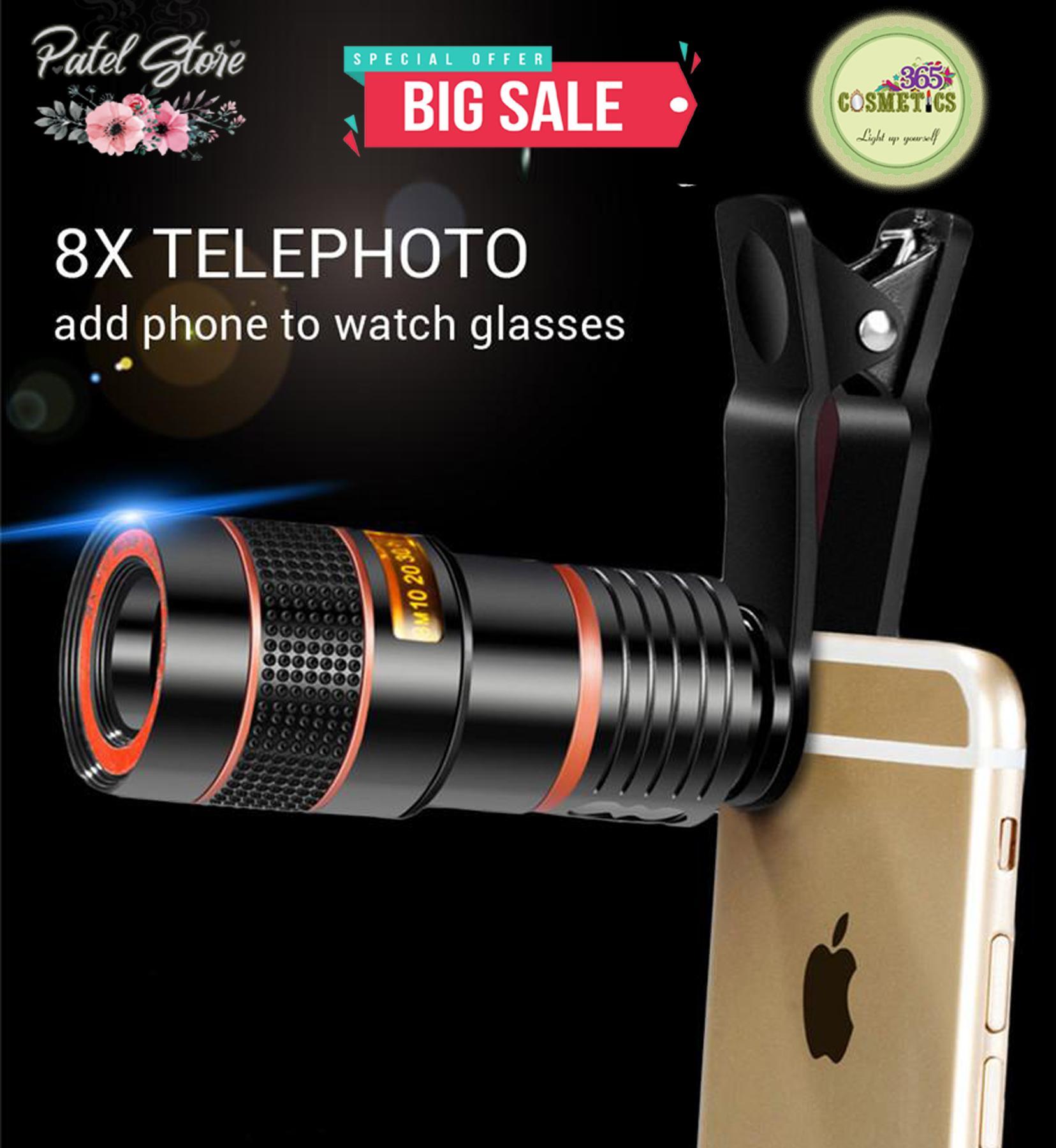 timeless design 74e11 fcdf0 8X 12X Zoom Mobile Phone Telescope Lens Telephoto External Smartphone  Camera Lens For iPhone Sumsung Huawei Xiaomi