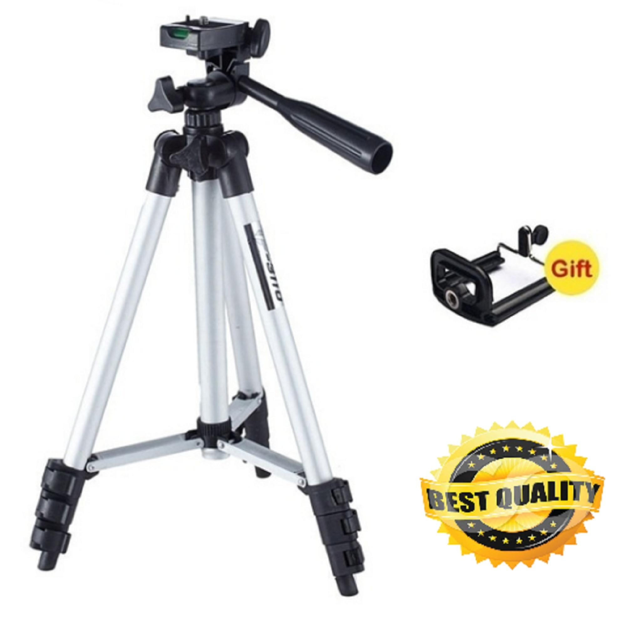 Portable 3110A Aluminium Tripod Monopod Stand For DSLR And Smartphones With  Free Phone Clip Attachment For Video And Photoshoot