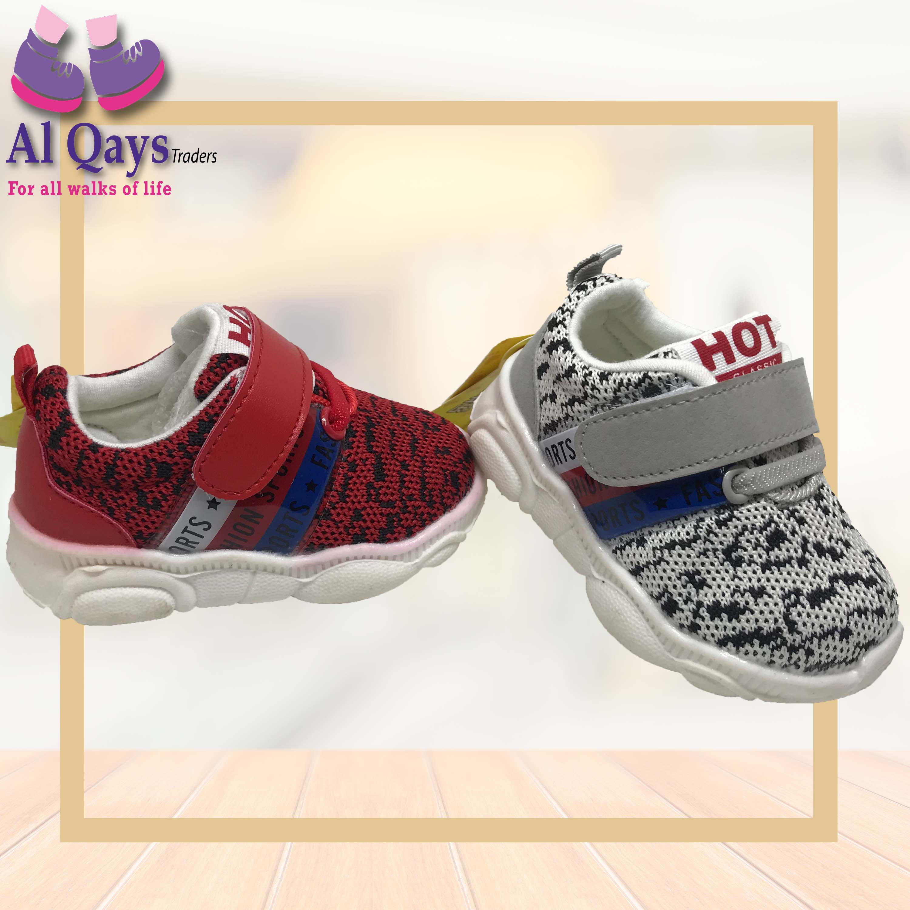 Branded HIGH QUALITY Toddler  Baby Boy Shoes - age 4 to 18 month - red and grey colour