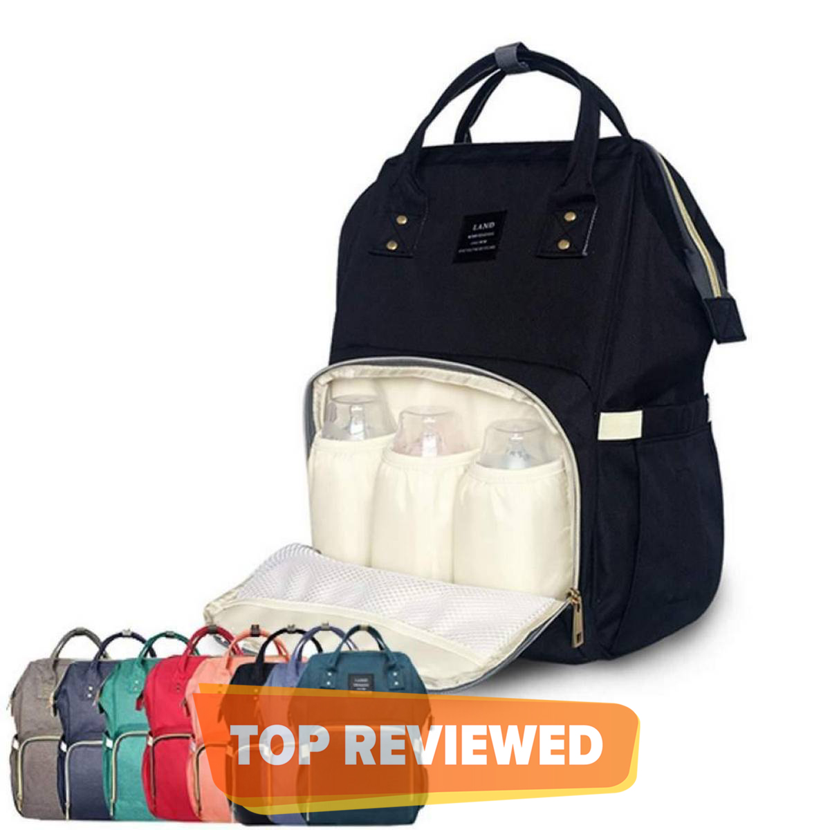 Baby Diaper Bag & Accessories BackPack Nylon 2020 New Fashion Large Capacity Mother Bag Simple and Lightweight Backpack Outdoor Travel New Fashion Large Capacity Mother Bag Simple and Lightweight Backpack