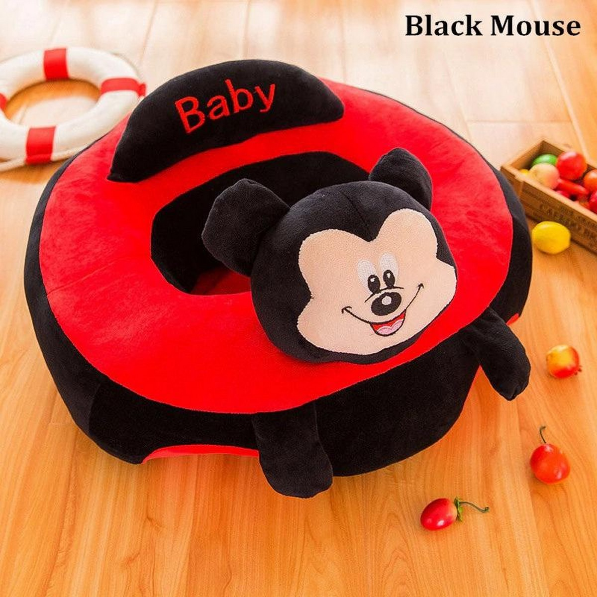 Portable Baby Support Seat Sofa Plush Soft Animal Shaped Baby Learning To Sit Chair Children's Plush Toy For 0-12 Months Baby