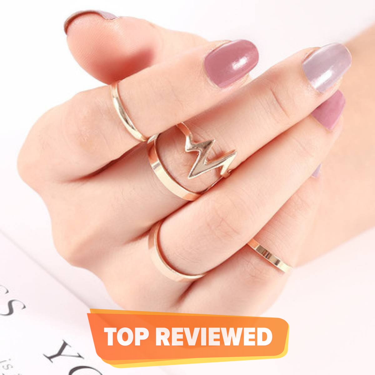 Kaytlins ECG Rings - Pack of 5 Rings For Womens - New Arrivals