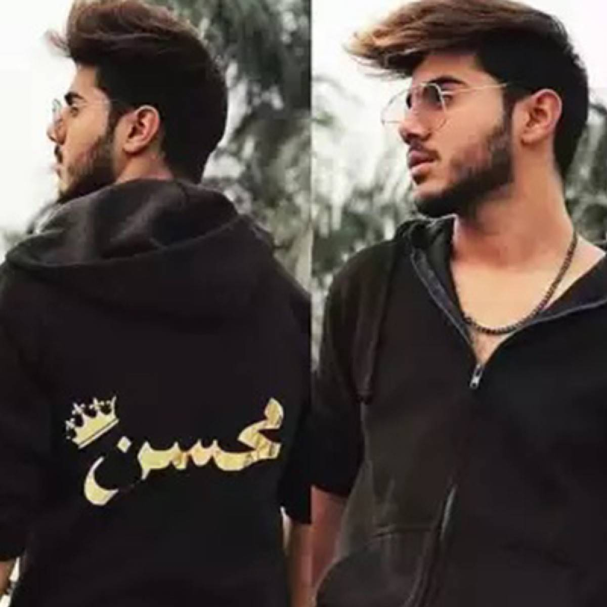 Customized Hoodie with Name in Golden for Men and Girls