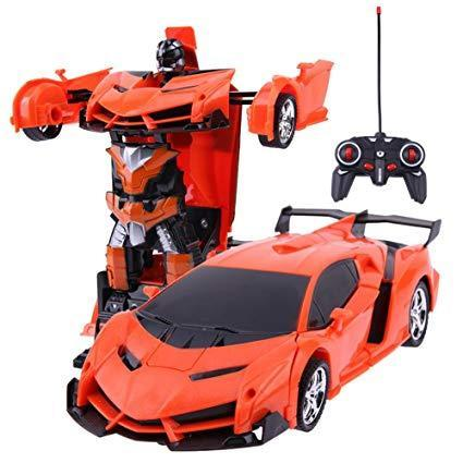 2 in 1 Wireless RC Car Model Deformation Robot Kids Toy Gift