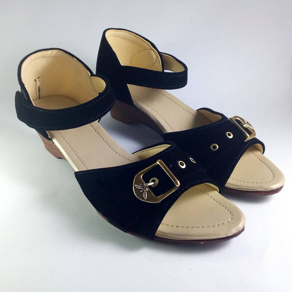 Black Velvet Stylish Sandal