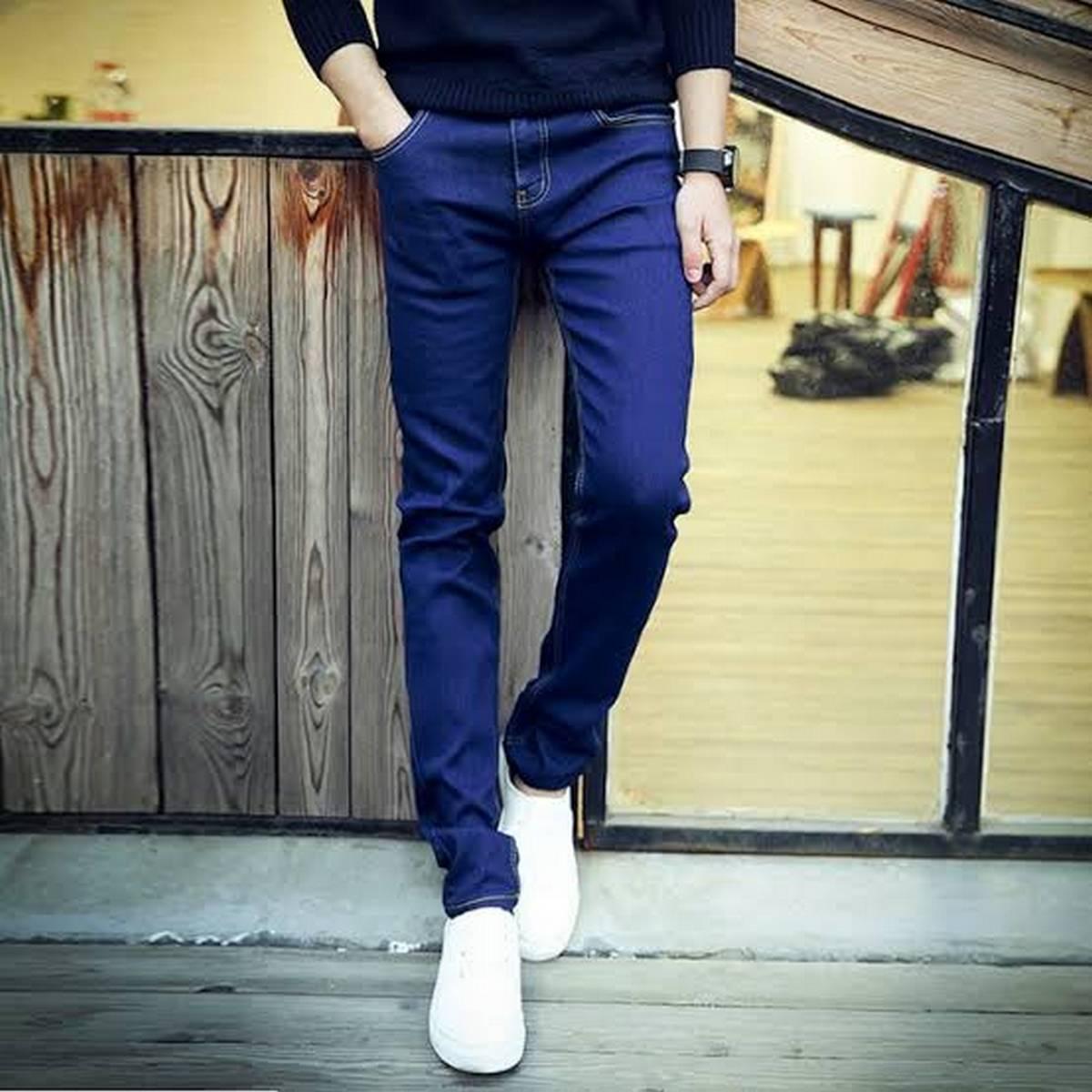 Blue Color Men Denim Jeans Pent Export Quality Stretchable jeans for men High Quality