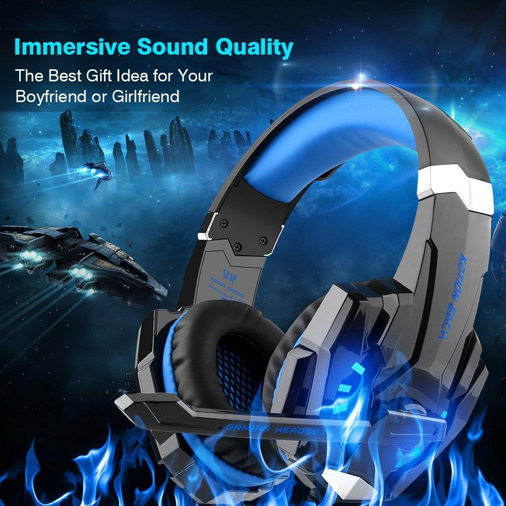 Gaming Headset Headphone 3.5mm Stereo Jack with Mic LED Light for PS4 Xbox  One 74c5c5cf00d7