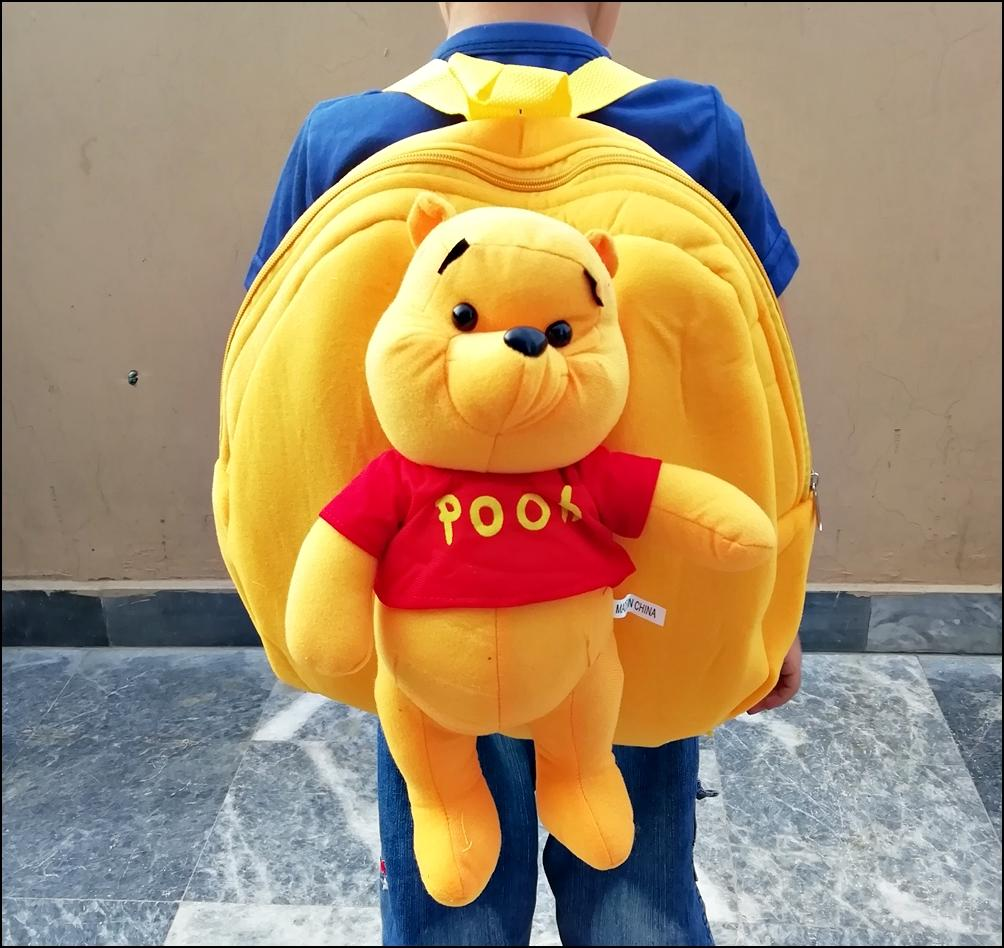 Premium Winnie The Pooh Character Kids School Bag For Boys and Girls