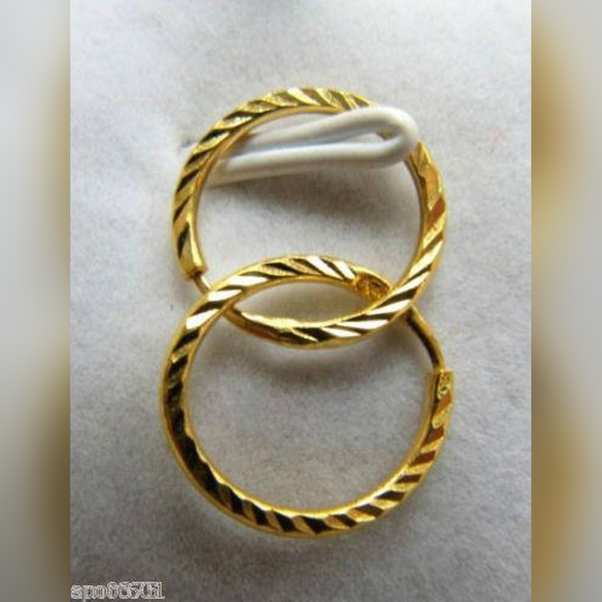 Gold Earrings Fine Carved Elegant Hoop Earrings-Wedding Women Jewelry-twisted hoop Earrings