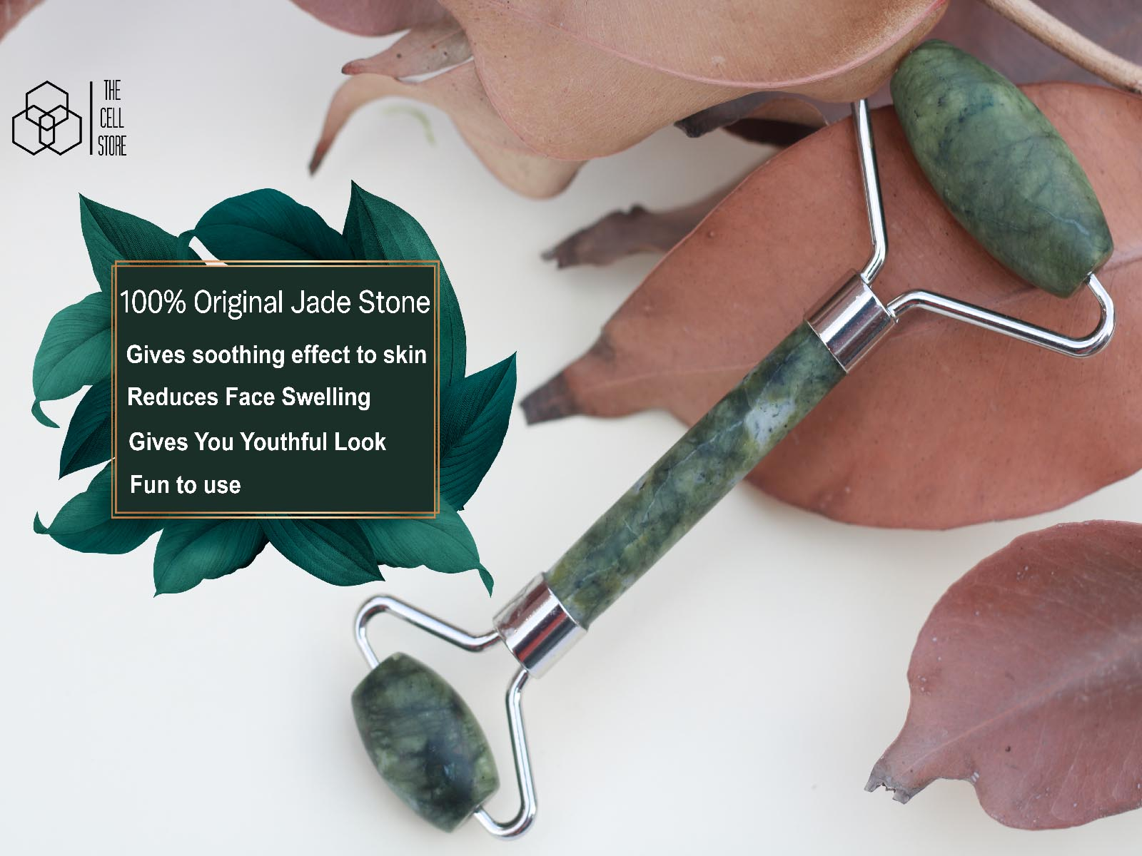 High-Quality Jade Roller   Natural Stone Jade Roller to Reduce Swelling and Ageing   Anti-Ageing Jade Roller for Men and Women   Facial Roller for Face Eyes Neck   Massager Tool Body Skin Slimming Relaxation   Authentic Durable Noiseless Design