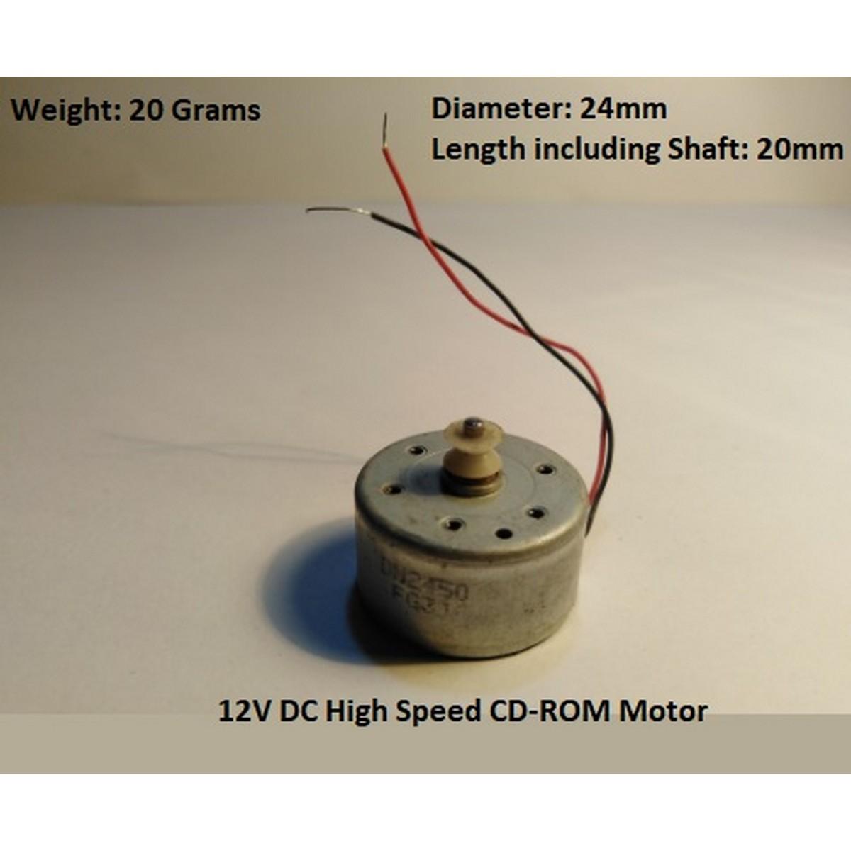 12V DC Motor for RC Car, Small Fan, Machines - CD ROM Motor