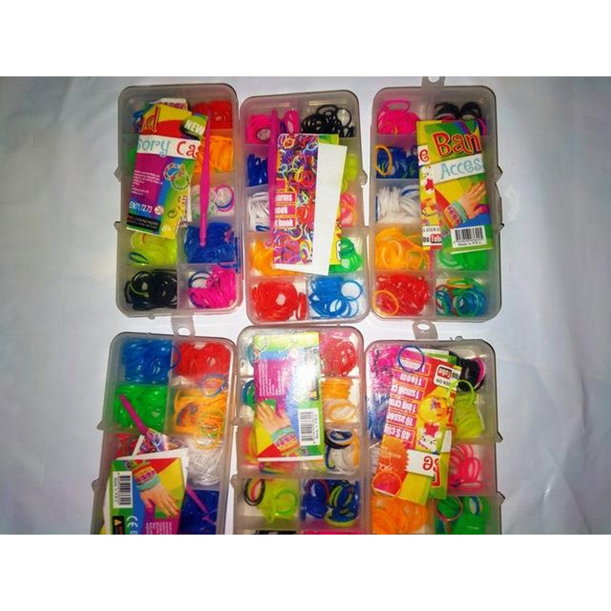 Top Selling Children's Toys DIY 350 Colorful Rubber Loom Bands Refill Kit with Accessories, Mixed Color
