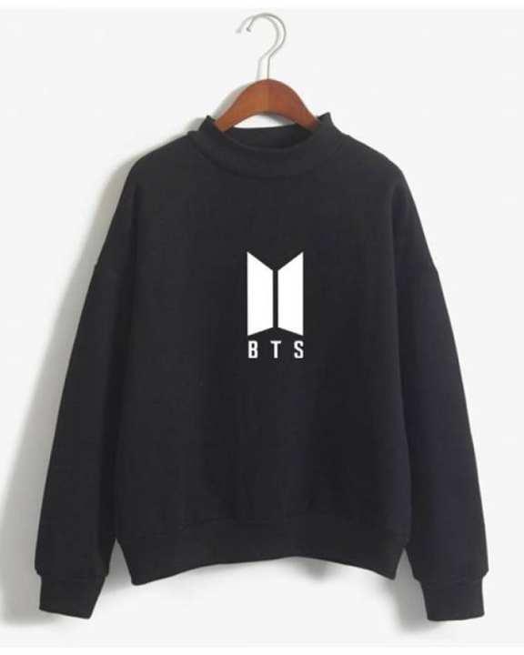 BTS Black Fleece Cotton Sweatshirt For Women