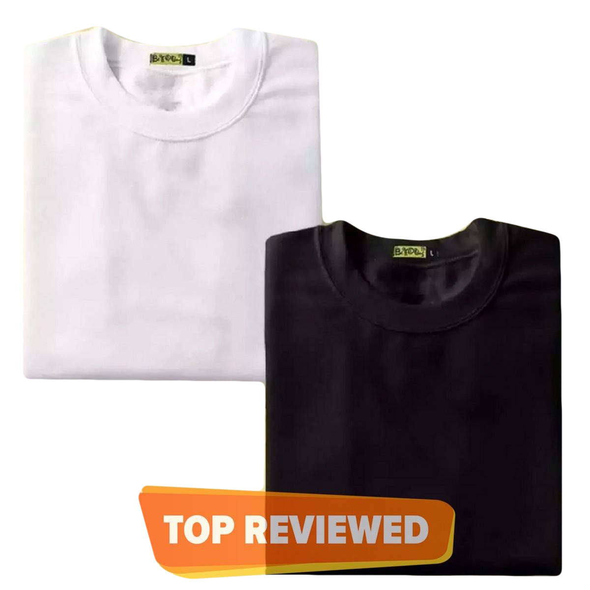 The Vintage Clothing Pack of 2 plain black and white half sleeves T shirt