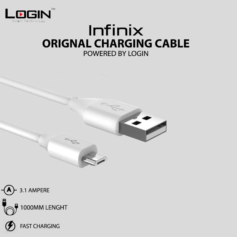 Infinix Orignal Cable - 2A Micro USB Fast Charging - Powered By LOGIN
