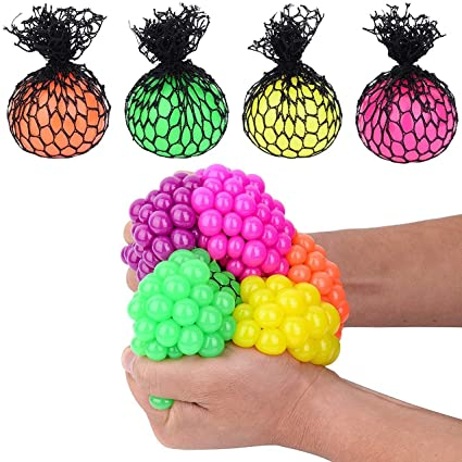 Magic Color Changeable Squishy Mesh Ball - Stress Release Toy - Toy for Kids - Stress Relief Ball