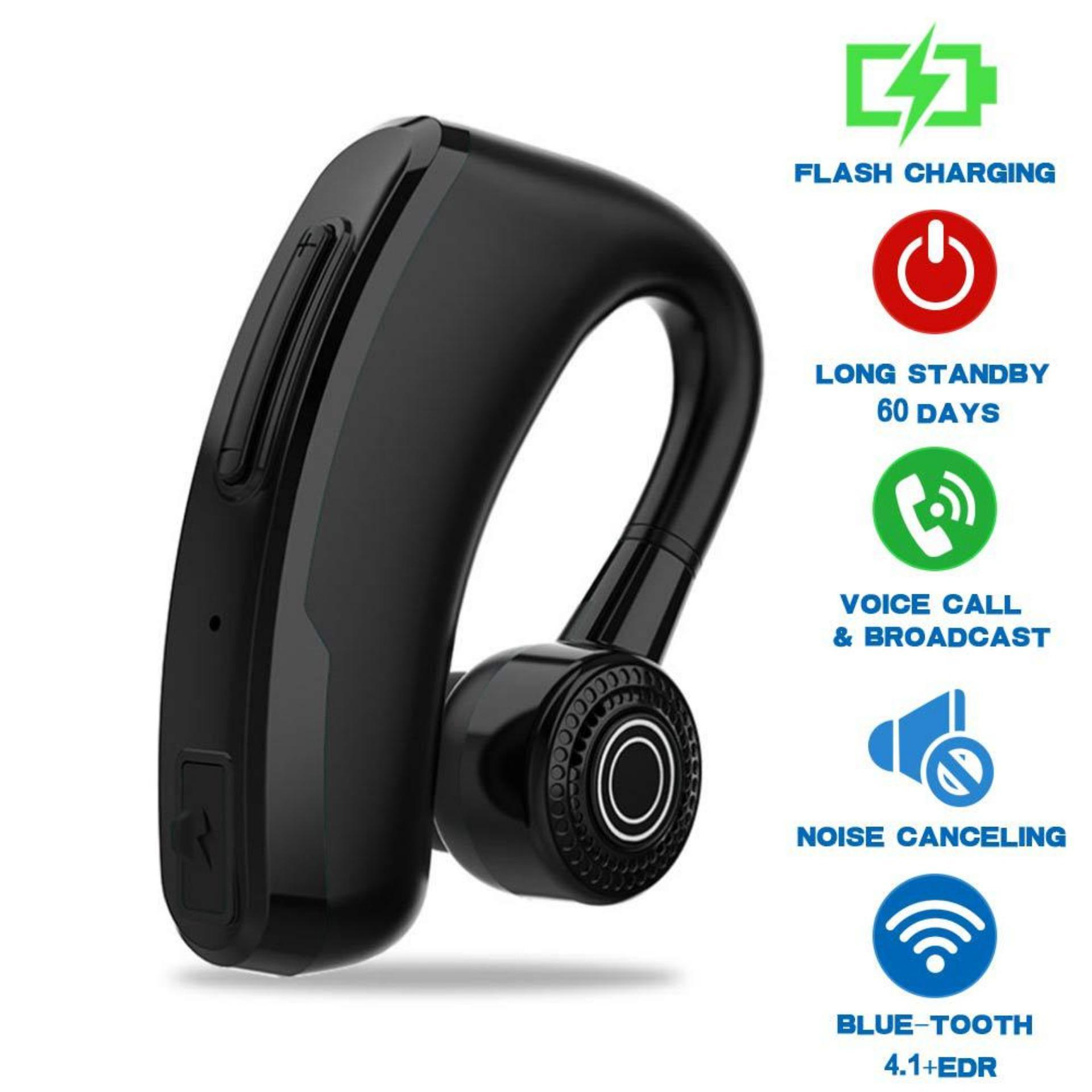 V9 Upgrade Extreme Flash Charge Anti Sweat Waterproof Business 4 1 Bluetooth Headset Car Bluetooth Earpiece Hands Free With Mic Ear Hook Bluetooth Wireless Earphone For Ios Android Phones Laptop Computers Buy Online At Best Prices In Pakistan