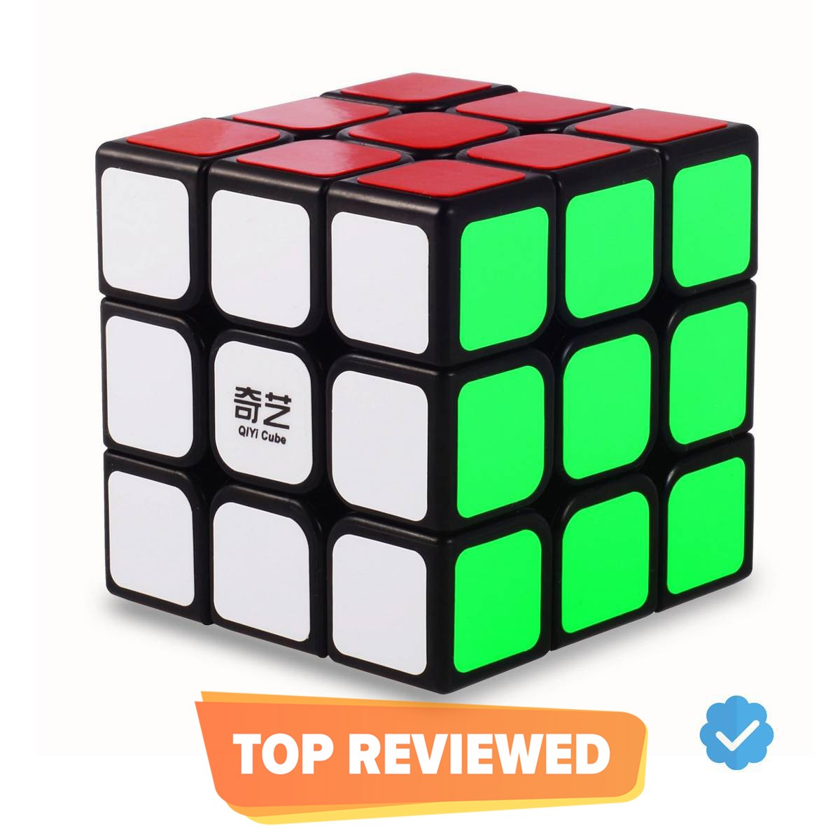 Qiyi Sail W Rubiks Cube 3x3- Smooth bright-light sticker(Classic colors) Speed Cube - 3x3x3 Puzzles Toys, The Most Educational Toy to Effectively Improve Children's Concentration and responsiveness - Rubik's Cube