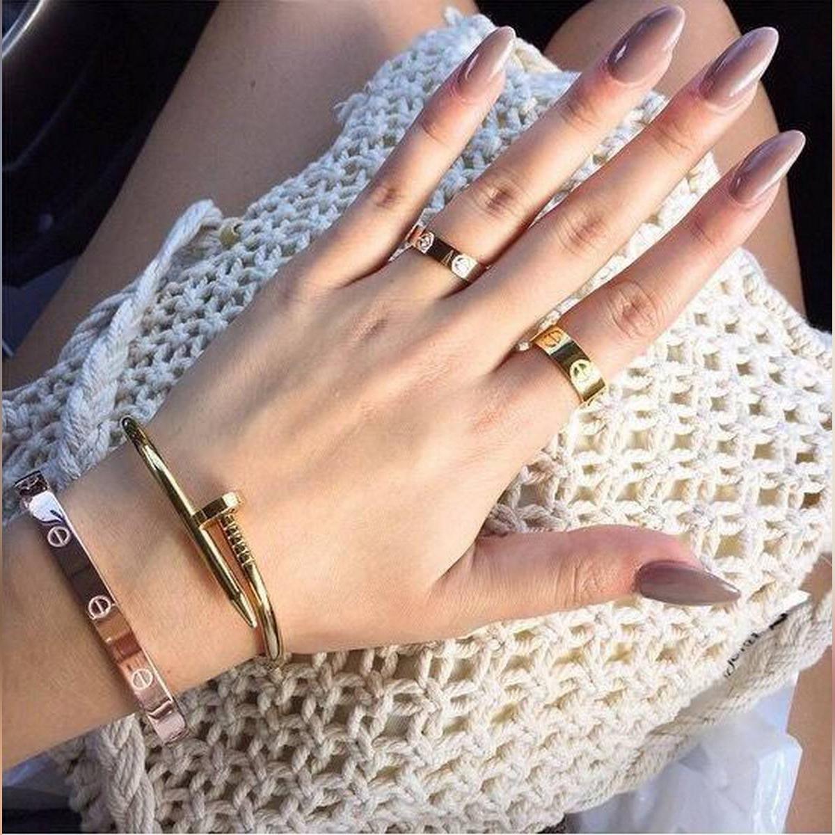 Screw Nail Bangle Stainless Steel Bracelet Jewellery