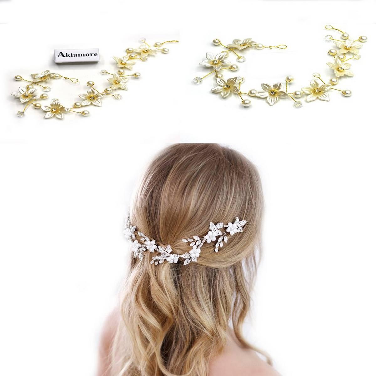 Crystal Wedding Hairbands Women Gold Silver Leaf Shape Headband Bridal Party Prom Headband Hair Crown