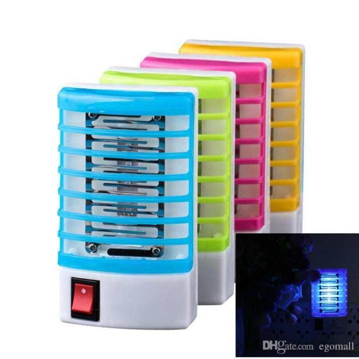 ORIGINAL New Electronic Mosquito Killer LED Socket Electric Mosquito Fly Bug Insect Trap Killer Zapper Night Lamp Lights Lighting EU Plug for Family Use