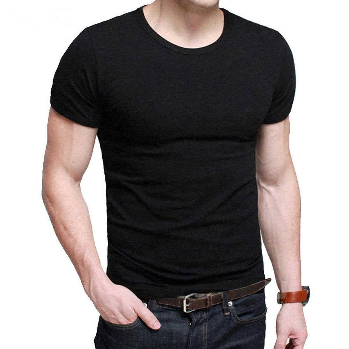 O-Neck Short Sleeve Shirts Round Neck Shirts for GYM Workout Shirts for Men Casual T-Shirts for Men Stylish Round Neck Best Quality Shirts for Men