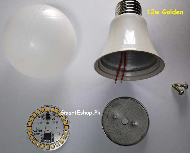 12W LED BULB White RAW MATERIAL Churi Type -E27