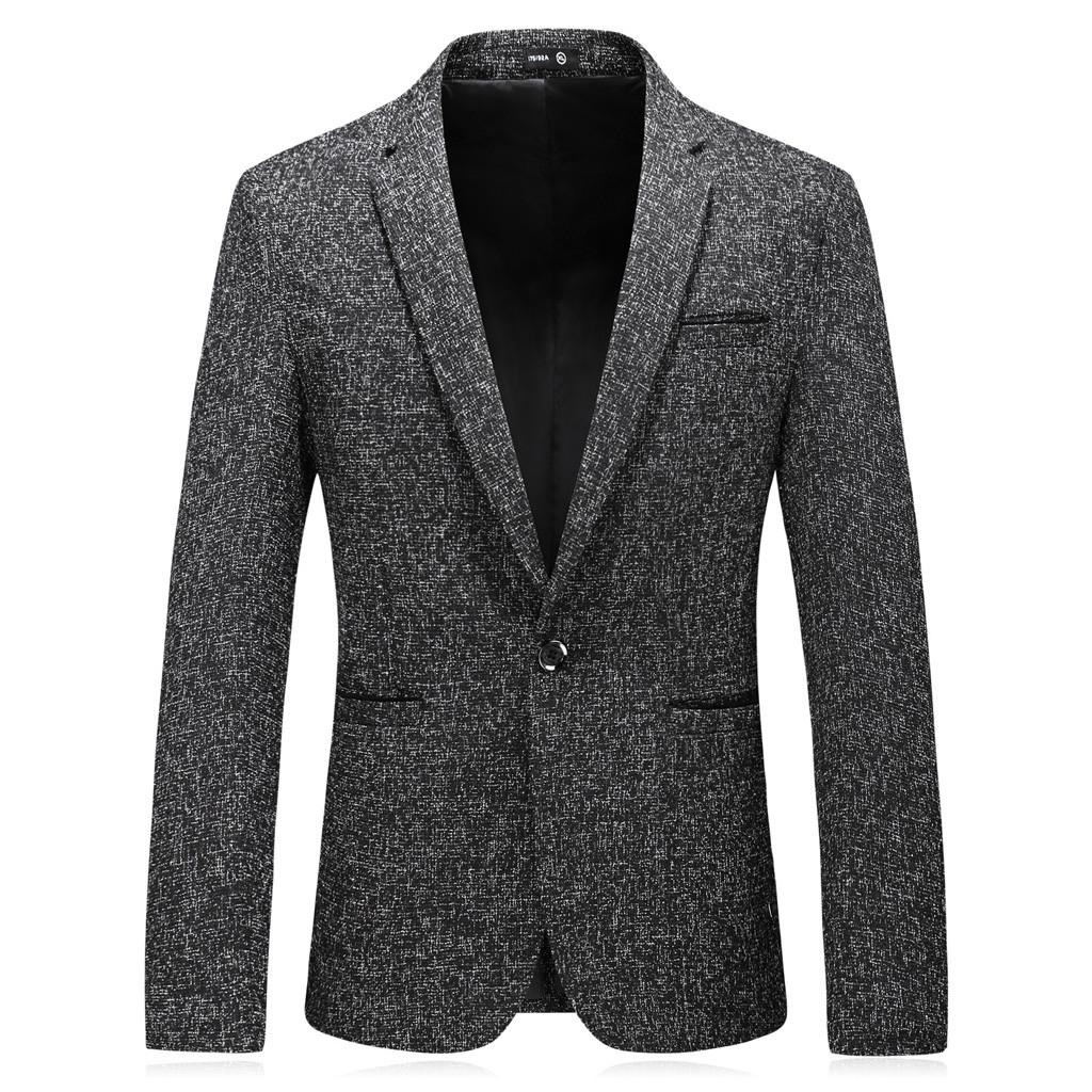 Men's Fashion England Solid Color High Quality Casual Single Breasted Suit #R120417612