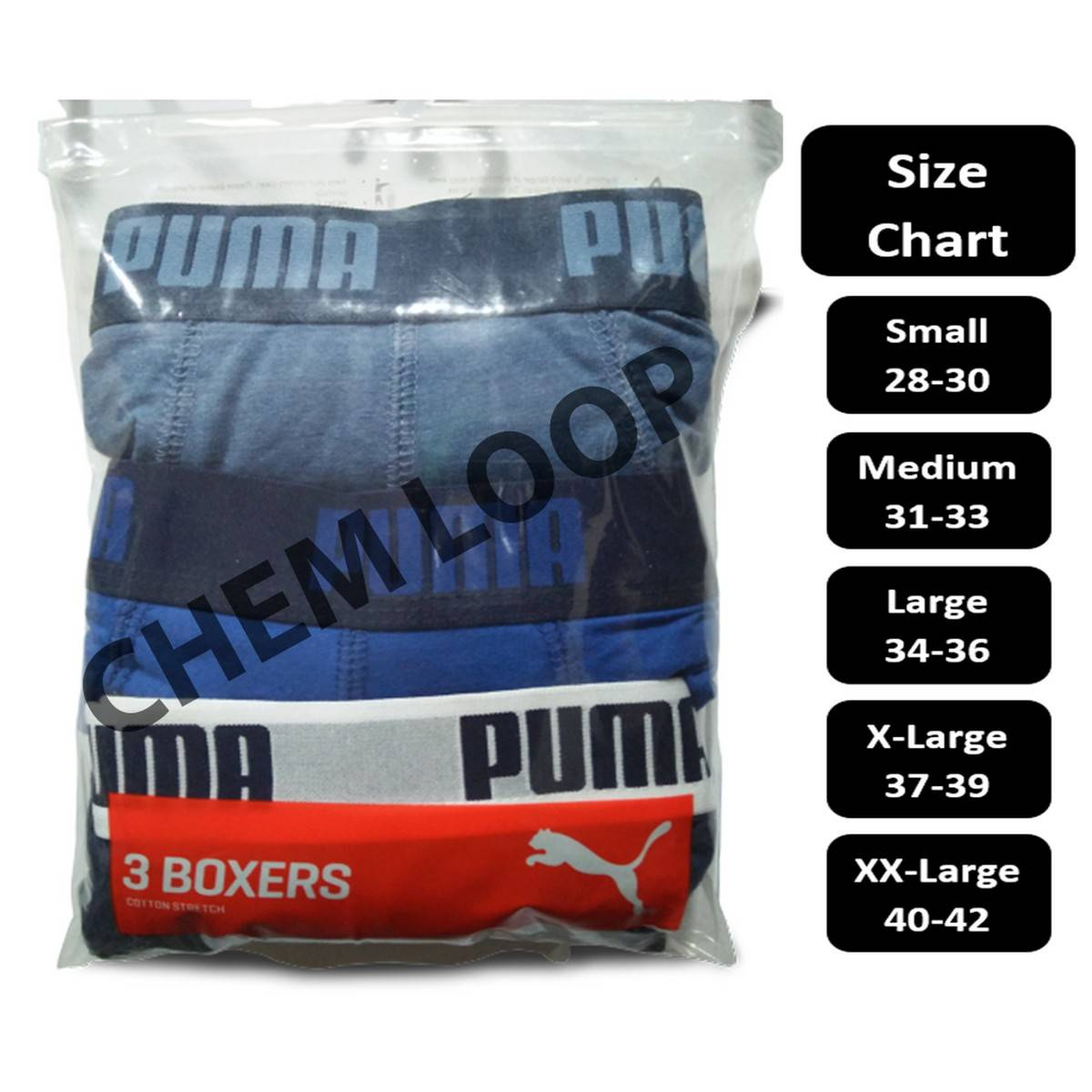 Pack of 3 ORIGINAL Waist Band & Accessories Boxer Shorts EXPORT QUALITY in Multi Colors