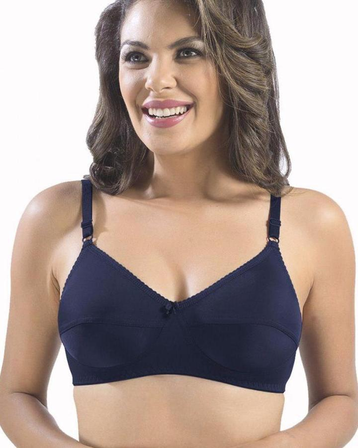 b69067e362 SONARI LOREAL BRA - Dark Black - NON PADDED NON WIRED - IMPORTED BRA