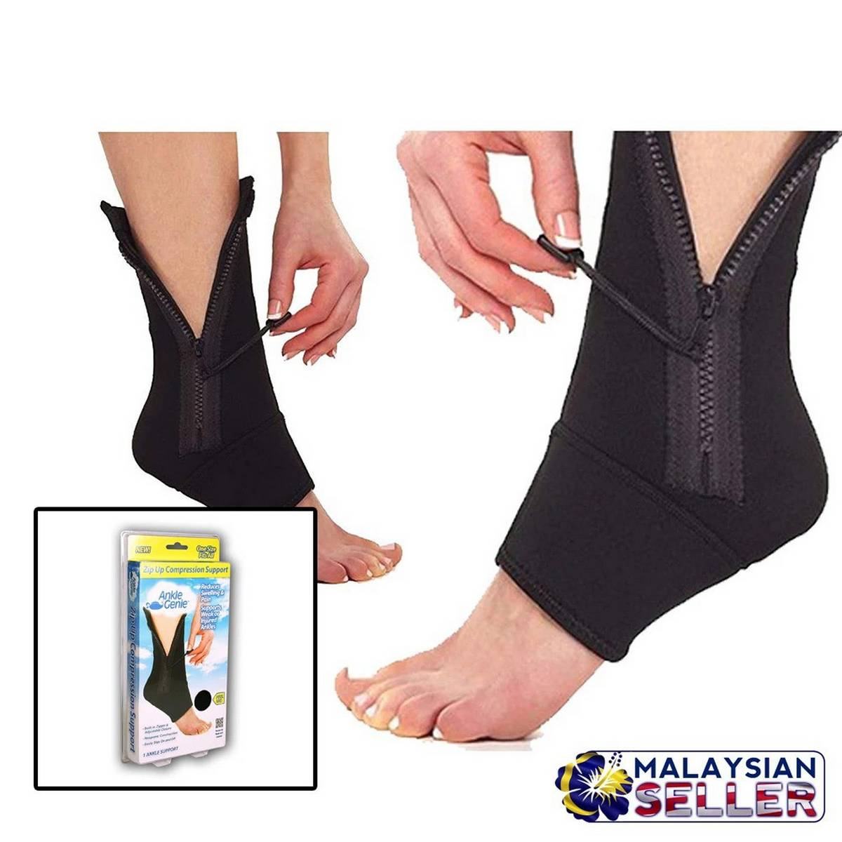 Ankle Genie Zip up Compression Support
