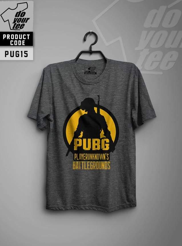 Jack Beos Pubg Battle Ground Digital Printed Charcoal Grey T-shirt For Men - 1132019