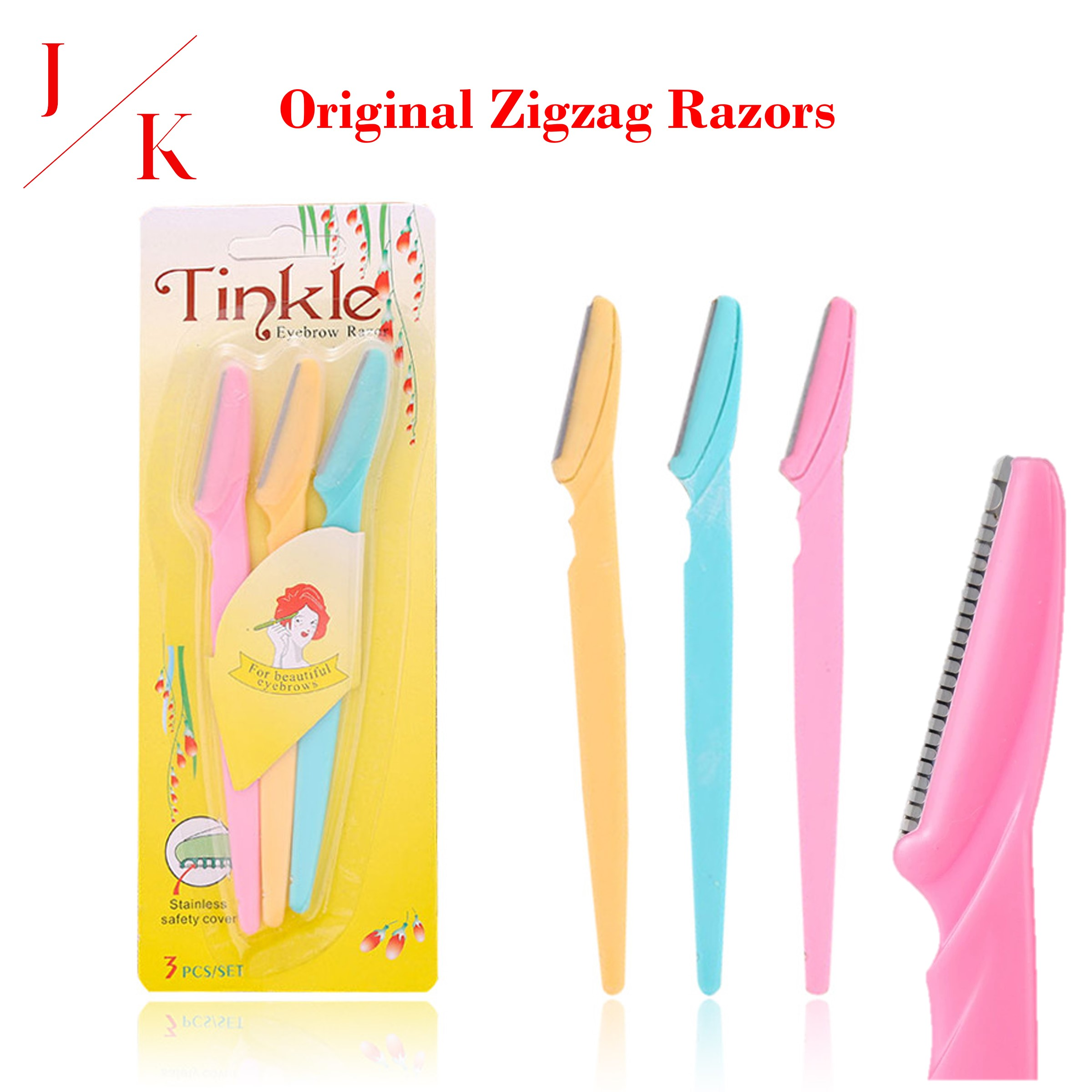 Tinkle Eyebrow Razor Face hair Removal Facial Hair Remover Facial Razor Lip Razor Beauty Tool Eyebrow Trimmer and Shaper Pain free Alternative for Beautiful Eyebrows (Pack of 3)