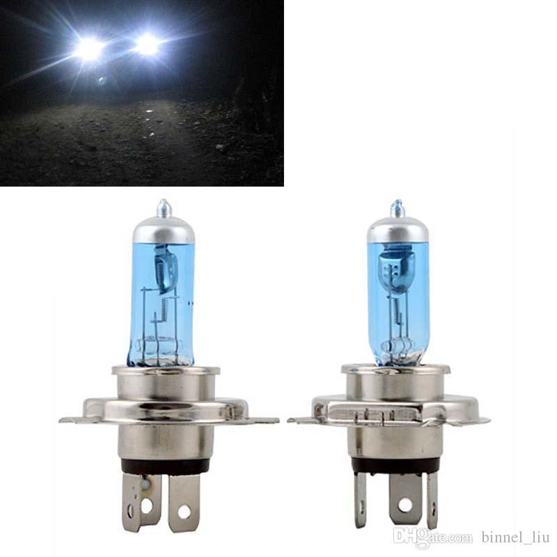 H4 Halogen Light Car Headlight Bulb White - 12V - 2Pcs