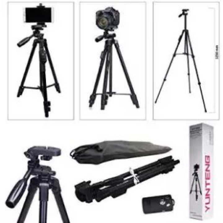 Aluminum Tripod with 3-Way Head & Bluetooth Remote for Camera and Mobile VCT 5208 TRIPOD